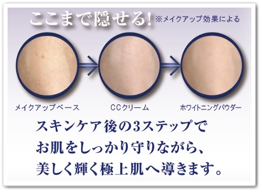 美輝肌ベースメイクセット 口コミ エコライフ メイク化粧品 びきはだ ブログ シミ隠す
